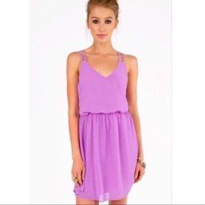 Orchid Purple Elastic Waist Dress